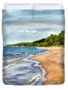 Peaceful Beach At Pier Cove Ll Duvet Cover