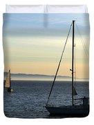 Peaceful Day In Santa Barbara Duvet Cover