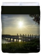 Peaceful Evening At Cooper River Duvet Cover
