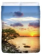 Peaceful Evening On The Waterway Duvet Cover