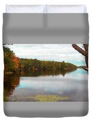 Peaceful Fall Day Duvet Cover