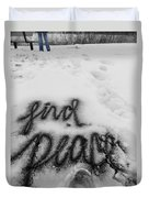 Peaceful Find Duvet Cover