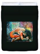 Peaceful Flow - Reclining Nude Duvet Cover