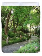 Peaceful Garden Path Duvet Cover