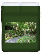 Peaceful Garden Path Duvet Cover