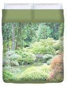 Peaceful Garden Space Duvet Cover
