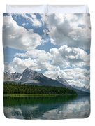 Peaceful Maligne Lake Duvet Cover
