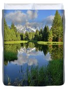 Peaceful Morning In Grand Teton Np Duvet Cover