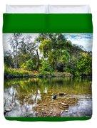 Peaceful Morning On Cibolo Creek Duvet Cover
