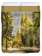 Peaceful Mountain River Duvet Cover