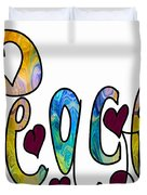 Peaceful Pasttimes Abstract Inspirational Art By Omaste Witkowsk Duvet Cover