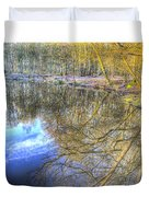 Peaceful Pond Reflections  Duvet Cover