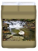 Peaceful Pool Waterfall Duvet Cover