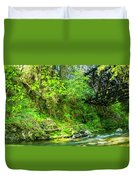 Peaceful Small Creek Under Kinsol Trestle, Vancouver Island, Bc, Canada 1. Duvet Cover