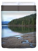 Peaceful Spring Lake Duvet Cover
