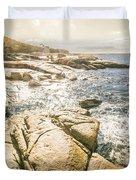 Peaceful Sun Flared Australian Coastline Duvet Cover