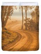 Peaceful Tasmania Country Road Duvet Cover