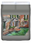 Peaceful Venice Canal Duvet Cover