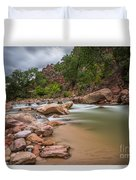 Peaceful Waters Of Zion Duvet Cover