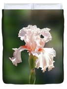 Peach Bearded Iris 2 Duvet Cover