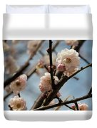 Peach Blossoms In Spring Duvet Cover