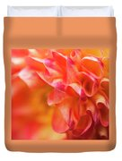 Peach Color Dahlia Duvet Cover