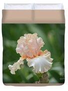 Peach Color Iris Duvet Cover