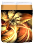 Peach Gold Nautilus Duvet Cover