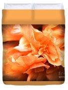 Peach Ripples Duvet Cover