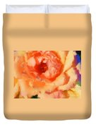 Peach Rose - Digital Painting Duvet Cover