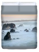 Peach Sky At Arched Rock Duvet Cover