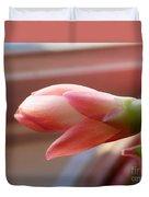 Peach Succulent Duvet Cover