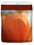 Peach Tulip Duvet Cover