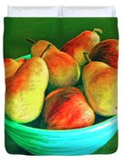 Peaches And Pears Duvet Cover
