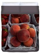 Peaches And Strawberries Duvet Cover