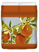 Peaches On The Tree Duvet Cover