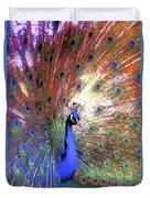Peacock Beauty Colorful Art Duvet Cover