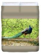 Peacock, Chateau De Saint-germain-de-livet Duvet Cover