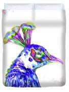 Peacock Closeup Duvet Cover