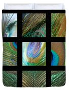 Peacock Feather Mosaic Duvet Cover