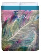 Peacock Feathers Pastel Duvet Cover