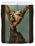 Peacock Frog Duvet Cover