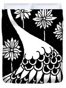 Peacock Illustration From Le Morte D'arthur By Thomas Malory Duvet Cover