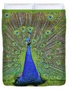 Peacock In A Oak Glen Autumn 3 Duvet Cover