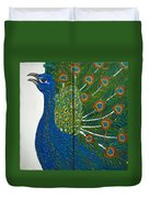 Peacock Iv Duvet Cover