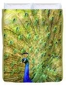 Peacock Prancing Duvet Cover