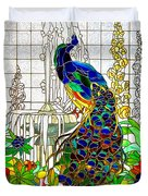 Peacock Stained Glass Duvet Cover