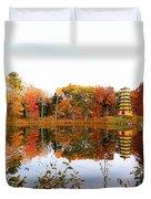 Peak Autumn Reflection 7 Duvet Cover