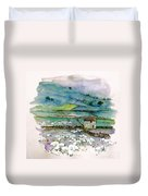 Peak District Uk Travel Sketch Duvet Cover