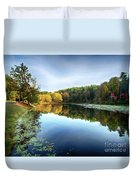Peaks Of Otter Reflection Duvet Cover